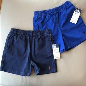 2 pairs of Polo RL Shorts Size 18 mos NWT